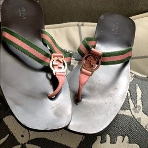 Gucci authentic sandal wear but no flaws